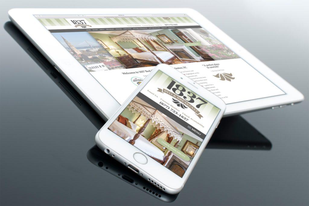Vales Advertising - 1837 Bed & Breakfast website