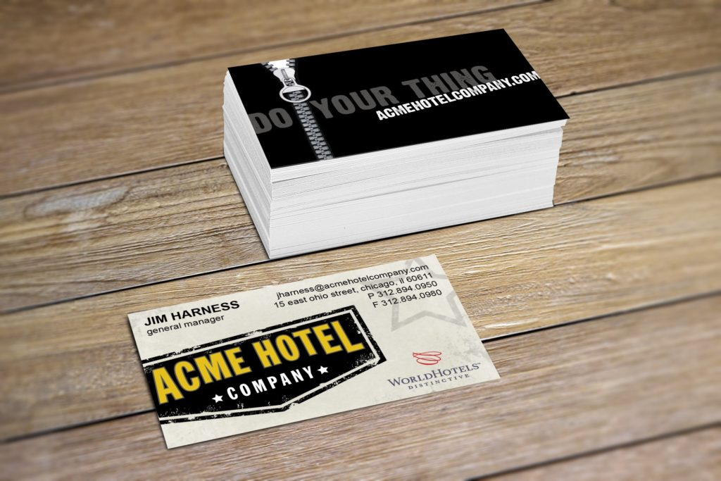 Vales Advertising - ACME Hotel Company business card