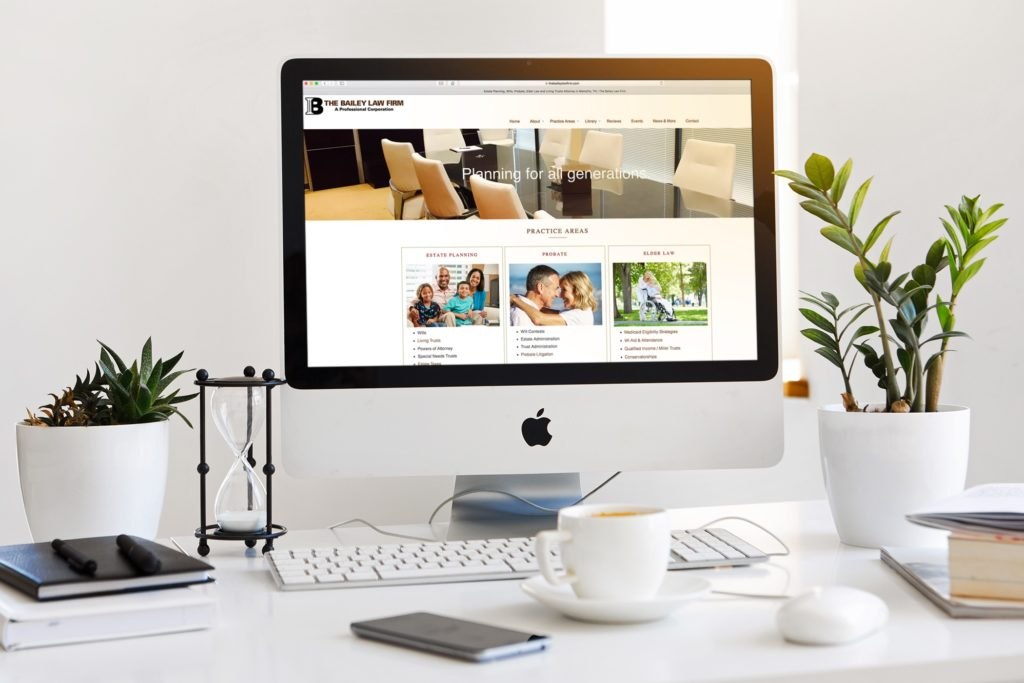 Vales Advertising - The Bailey Law Firm website
