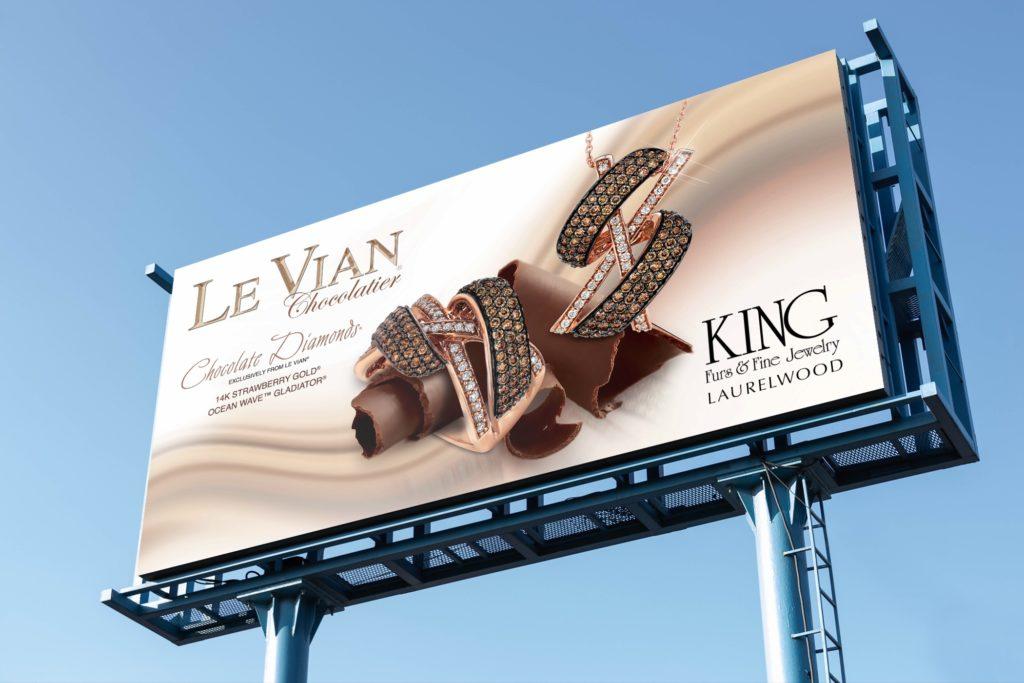 Vales Advertising - King Furs & Fine Jewelry billboard