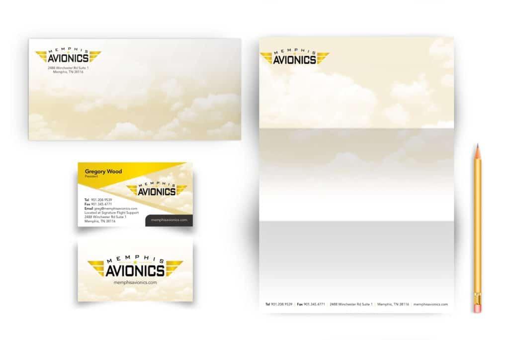 Vales Advertising - Memphis Avionics stationary
