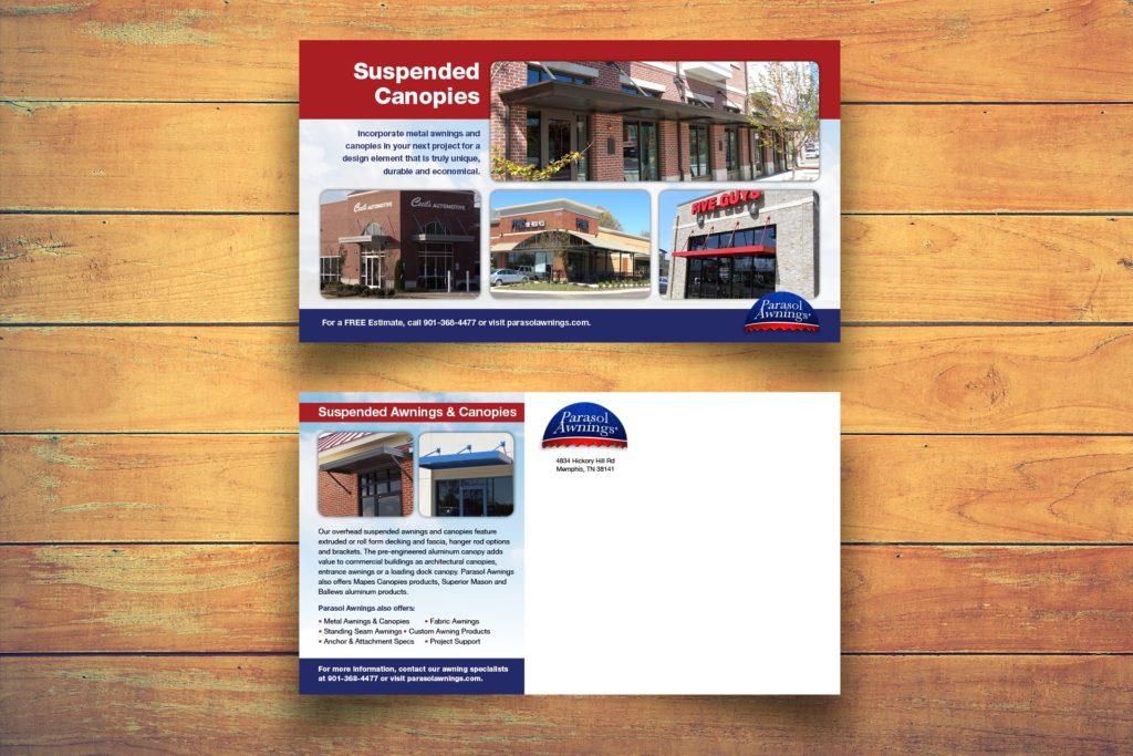 Vales Advertising - Parasol Awnings mailer