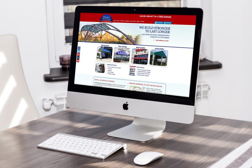 Vales Advertising - Parasol Awnings website