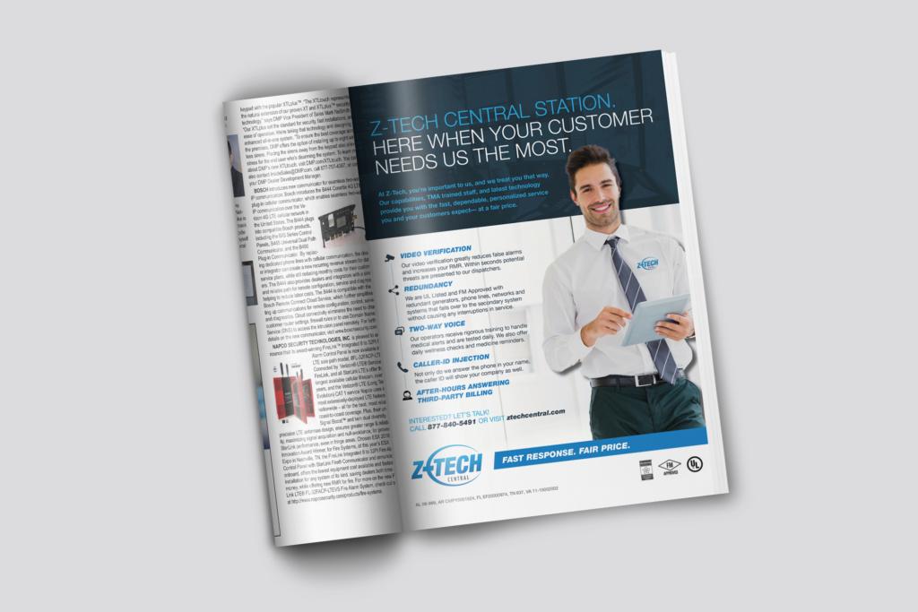 Vales Advertising Z-Tech Central magazine