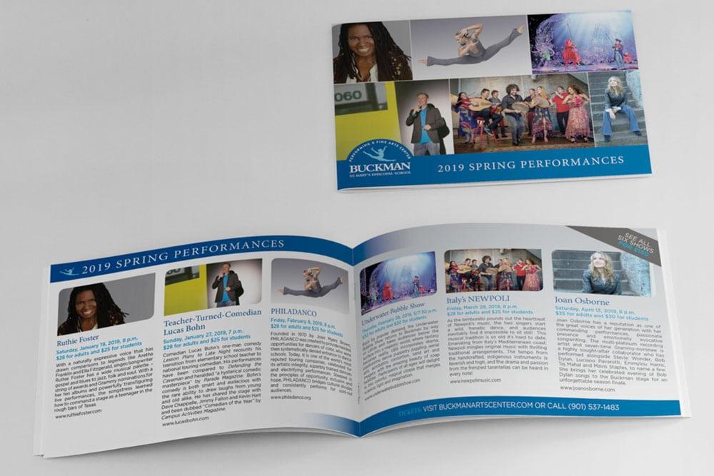 Vales Advertising - Buckman Performing & Fine Arts Center season brochure