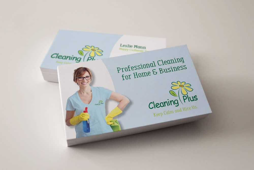 Vales Advertising Cleaning Plus St Louis business card